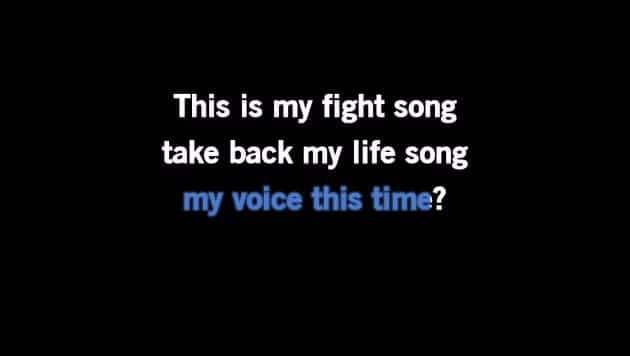 Karaoke Fight Song - Rachel Platten - CDG, MP4, KFN - Karaoke Version