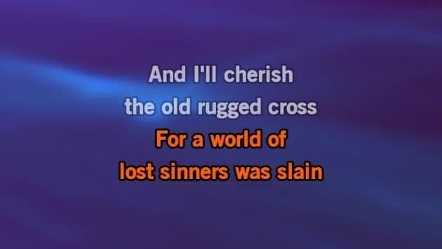 Karaoke The Old Rugged Cross Brad