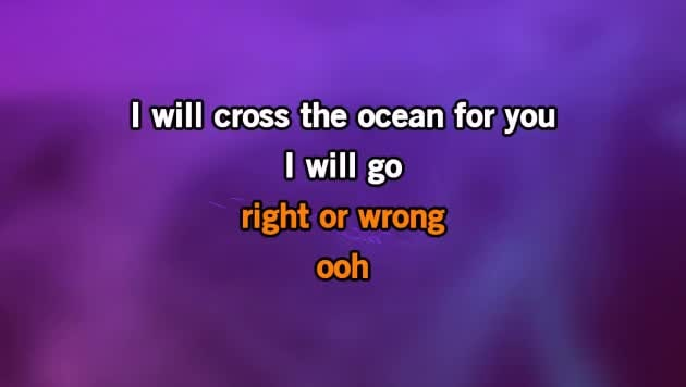 i will cross the ocean for you