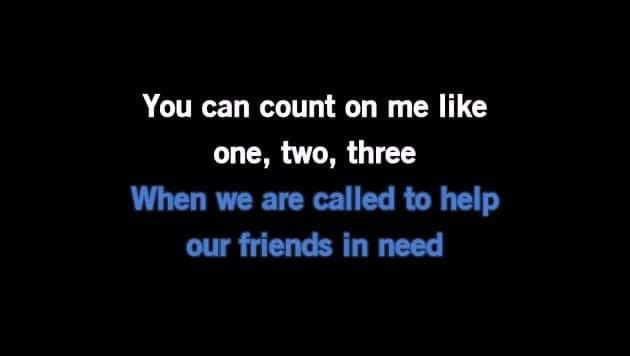 Karaoke Count On Me - Bruno Mars - CDG, MP4, KFN - Karaoke