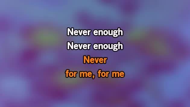 Never Enough Karaoke - The Greatest Showman