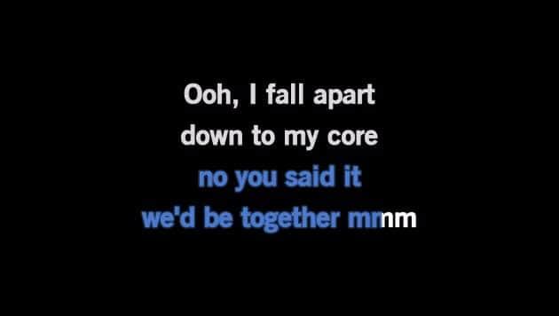 Karaoke I Fall Apart - Post Malone - CDG, MP4, KFN - Karaoke