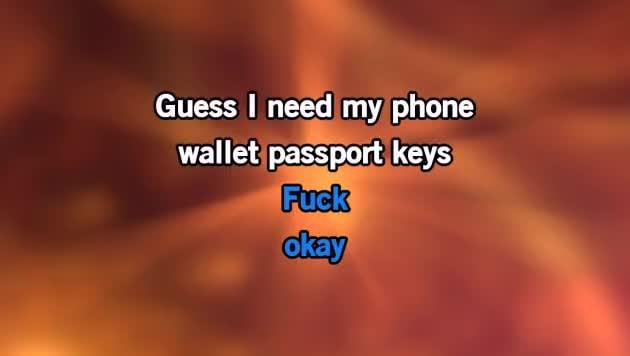 Phone Wallet Key Karaoke - Adam Sandler