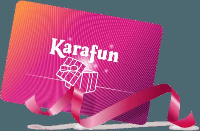 Tarjeta regalo de karaoke
