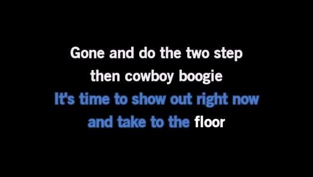 Karaoke The Git Up - Blanco Brown - CDG, MP4, KFN - Karaoke
